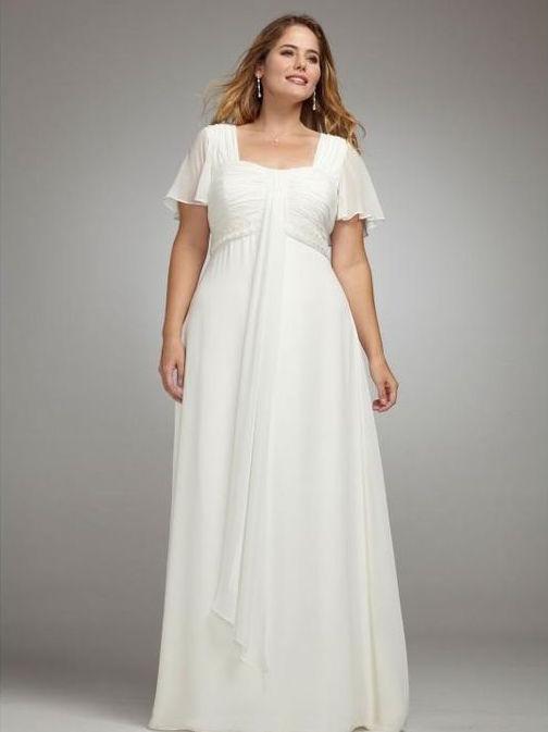 Robe de mariee pour femme ronde avec manche